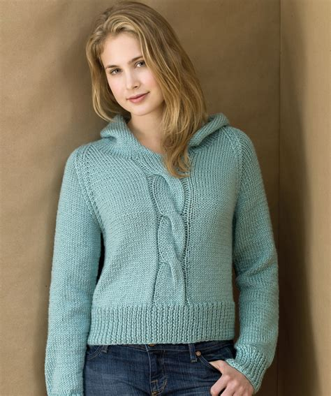 knit hoodie knitted sweater pattern for