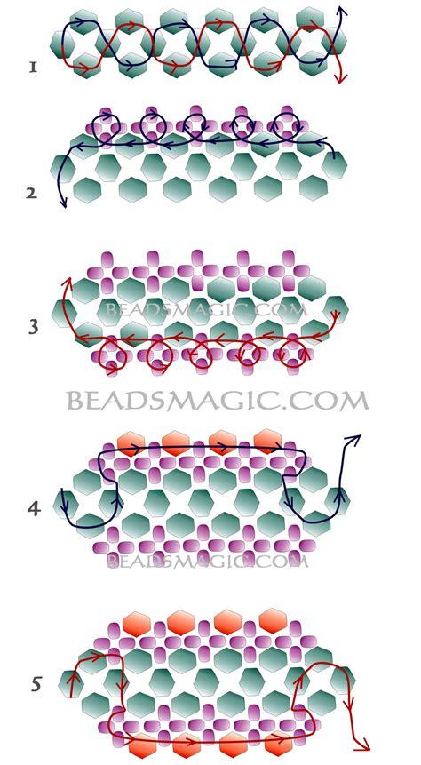 seed bead bracelet patterns and free pattern for bracelet violet 2