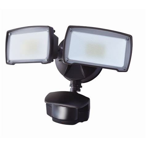 solar motion sensor light lowes shop utilitech pro 180 degree 2 bronze led motion