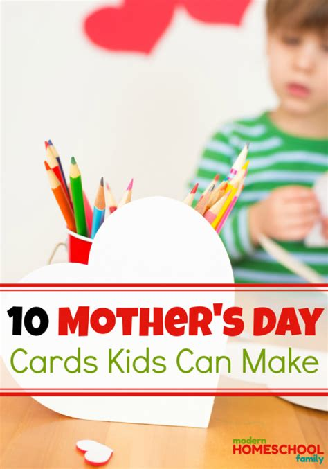 mothers day cards toddlers can make s day cards can make modern homeschool family
