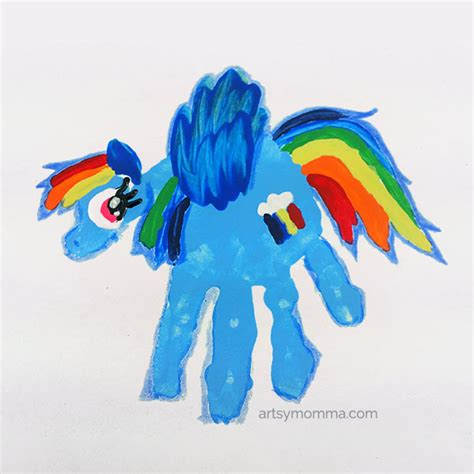 crafts with pony rainbow dash handprint craft handprint