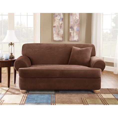 slipcovers for three cushion sofa sure fit stretch pique t cushion three sofa