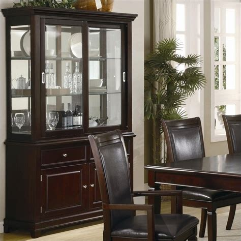 dining room china hutch coaster ramona formal dining room china cabinet in walnut