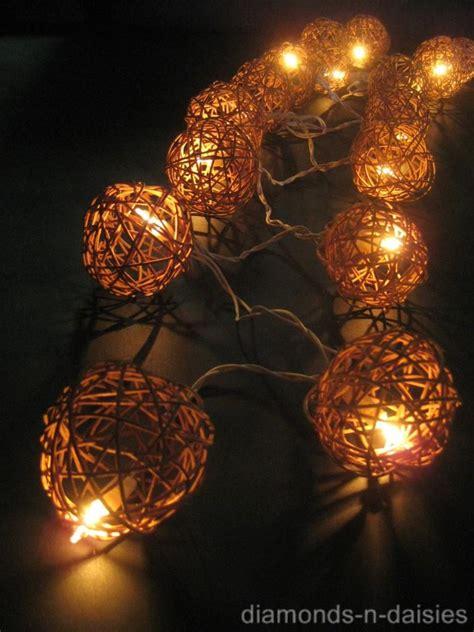 wicker string lights 20 brown wicker rattan led string