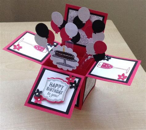 unique birthday cards to make handmade card in a box unique birthday greeting card box