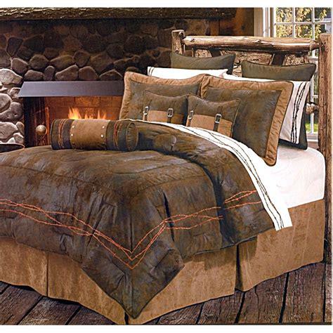 western bedding sets ranch barbwire chocolate western bedding comforter set