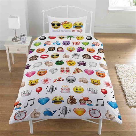 childrens bedroom bedding sets emoji multi single duvet cover and pillowcase set