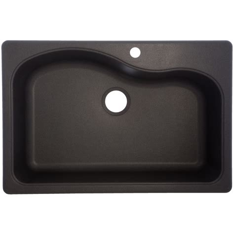 kitchen sinks lowes shop franke usa 22 in x 33 in graphite single basin