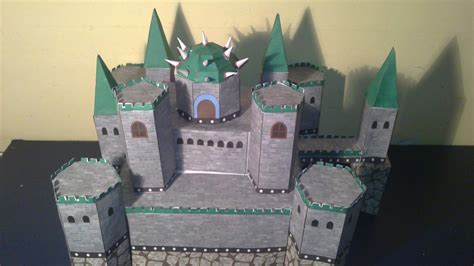 paper craft castle bowser s castle papercraft by e 419 on deviantart