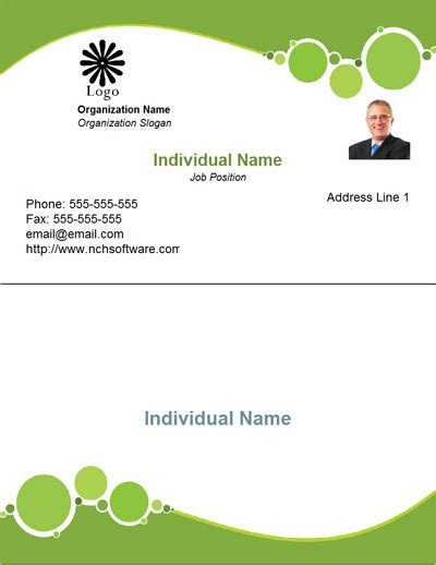 online business card template word free designs 1