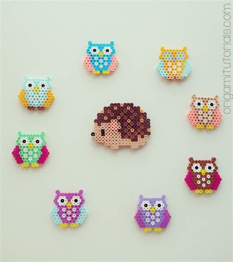 pixel bead bead owls origami tutorials