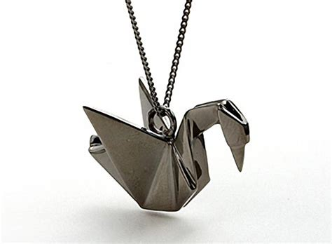 origami pendant not paper craft but origami necklace gadgetsin