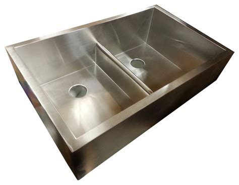 houzz kitchen sink bowl apron sink with patented seamless drain