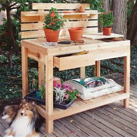 Gardening Workbench Reclaimed Pallet Work Bench For Garden Pallets Designs