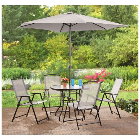 patio dining sets with umbrella furniture outdoor table bench set with cushions