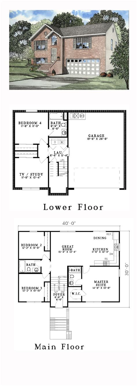 split level floor plan best 25 split level house plans ideas on