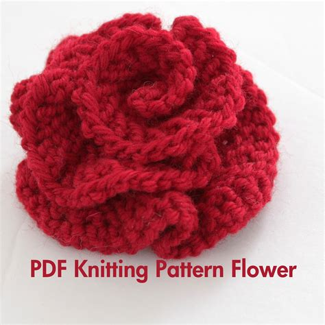 knitting patterns pdf free pattern knitted flower pdf pattern easy by absoluteknits