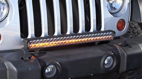 led light bar for jeeps lazer led light bar outfitted jeep wrangler