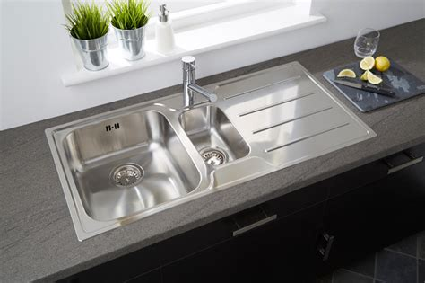 contemporary stainless steel kitchen sinks plateau 1 5b stainless steel low profile sink