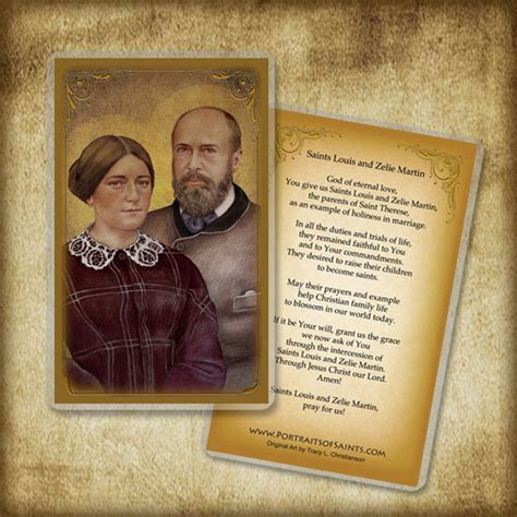 wooden sts for card sts louis zelie martin holy card or wood magnet 0206
