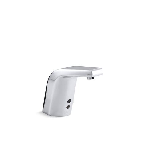 kohler touchless kitchen faucet kohler sculpted commercial battery powered single touchless bathroom faucet in polished