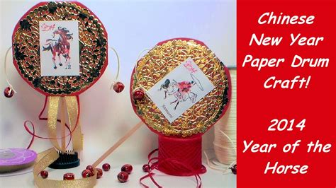 new year paper crafts new year paper drum craft