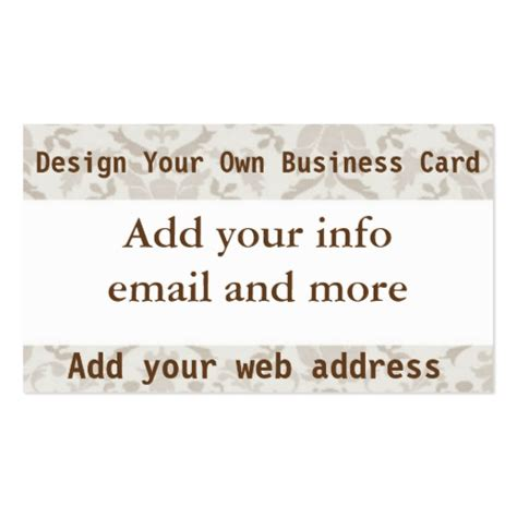 make you own card design your own business card zazzle