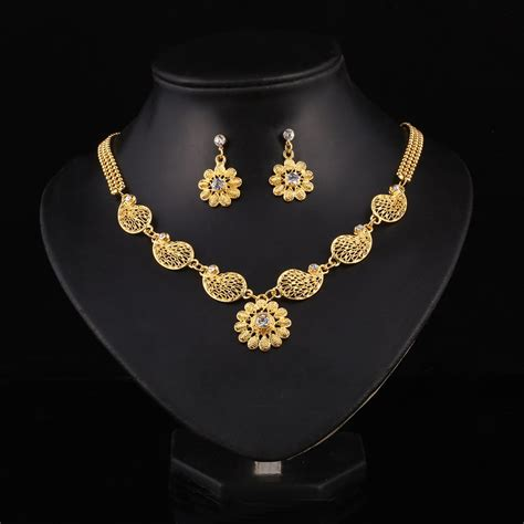 jewelry set aliexpress buy flower pendant necklace chain