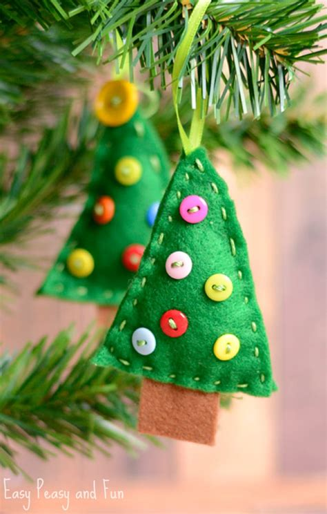 craft tree ornaments felt tree ornament easy peasy and