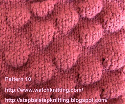 knit patterns free embossed knitting stitches knitting