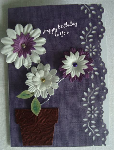 paper flowers for card card ideas paper flowers card and scrapbooking
