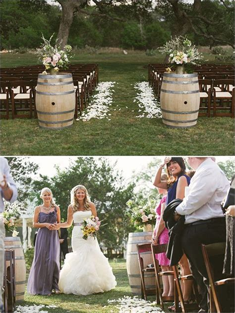 rustic outdoor decorations country wedding ideas 20 ways to use wine barrels