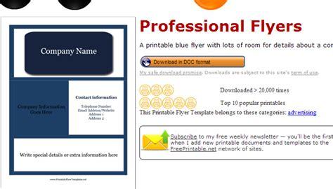 free printable flyers 3 free salon flyer templates af templates