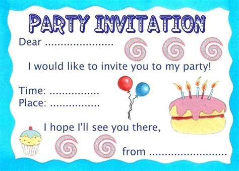 how to make a birthday invitation card make your own invitations theruntime