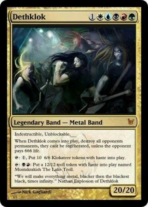 make magic the gathering cards dethklok the gathering the o
