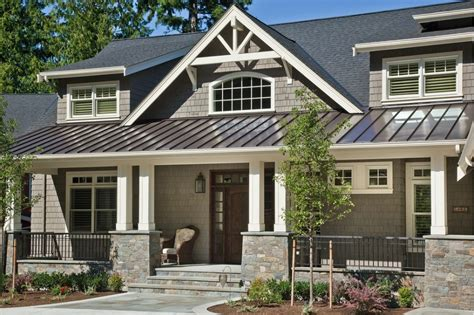 exterior paint colors house brown roof craftsman bedroom furniture plans exterior house colors