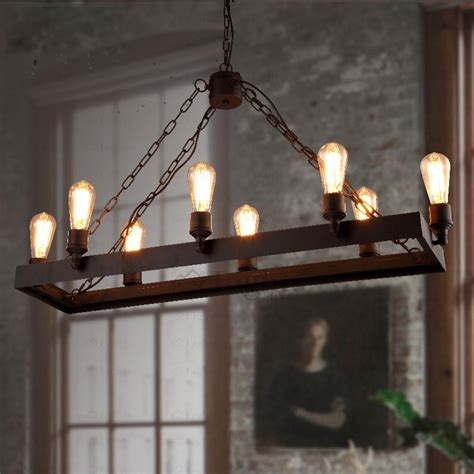 light styles rustic 8 light wrought iron industrial style lighting fixtures