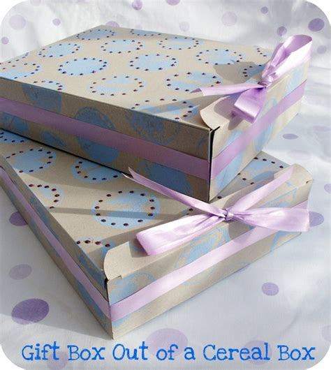 how to make a gift box out of card make a gift box out of a cereal box tip junkie