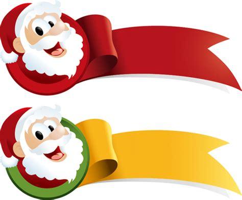 santa for santa with ribbon vector vector