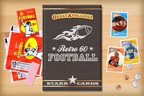 make your own football card custom football cards retro 60 series cards