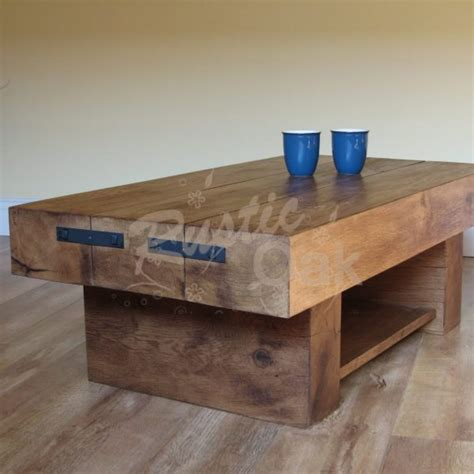 coffee table offers special offer 3 beam coffee table with shelf rustic oak