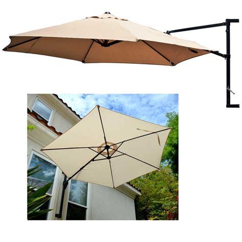 the wall patio umbrella offset umbrella patio wall mount garden outdoor sun canopy
