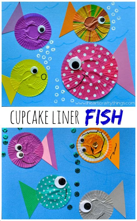 fish craft for fish craft out of cupcake liners i crafty things