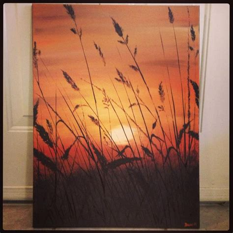 acrylic painting picture ideas sunset landscape original acrylic painting on canvas
