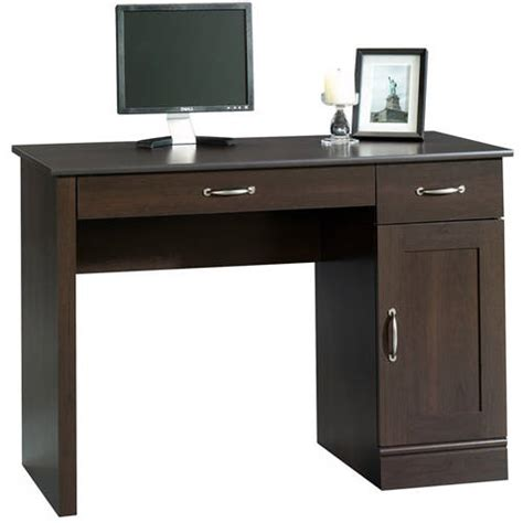 walmart computer desk sauder parklane collection computer desk cinnamon cherry