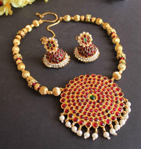how to make indian jewelry buy beautiful meenakari pendant temple necklace set