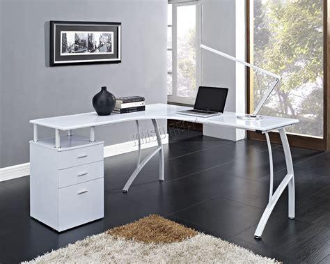 white corner office desk foxhunter l shaped corner computer desk pc table home