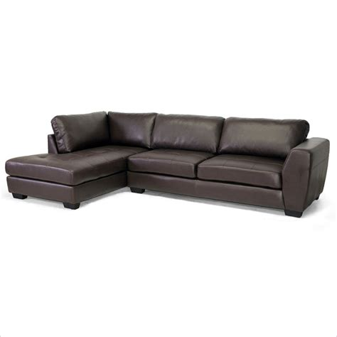 left facing sectional sofa orland left facing sectional sofa in brown ids023 sec