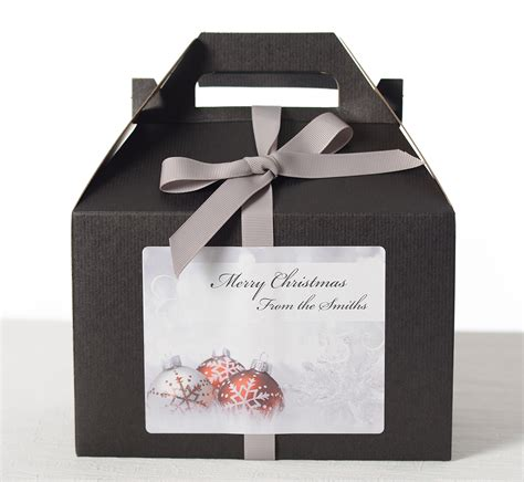 ornament gift boxes ornaments in snow gift boxes labelsrus