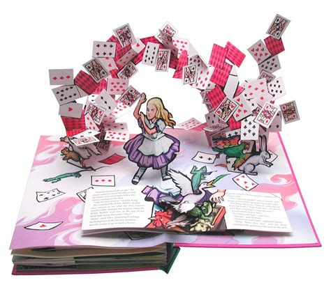 pictures of pop up books s adventures in book by lewis carroll